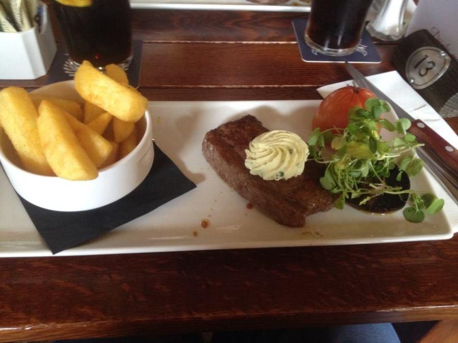Steak at Stables Inn