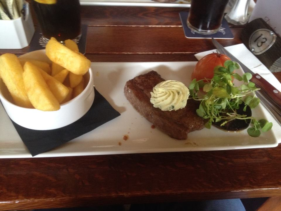 Steak at Stables Inn