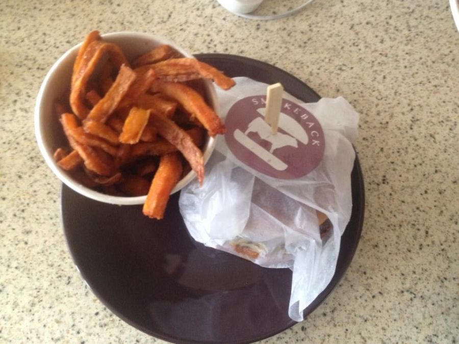Sweet Potato Fries, Burger