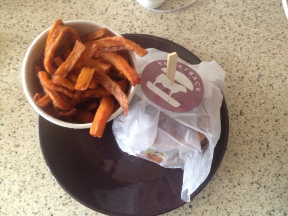 Sweet Potato Fries, Burger