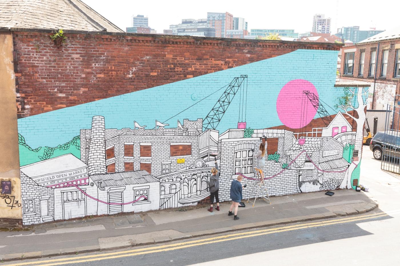 Plusnet Sheffield Mural